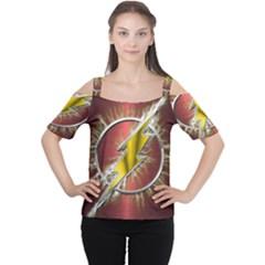 Flash Flashy Logo Women s Cutout Shoulder Tee