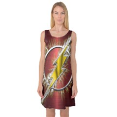 Flash Flashy Logo Sleeveless Satin Nightdress