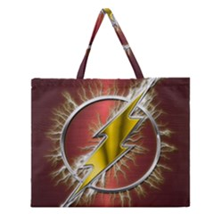 Flash Flashy Logo Zipper Large Tote Bag