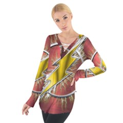Flash Flashy Logo Women s Tie Up Tee