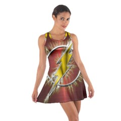 Flash Flashy Logo Cotton Racerback Dress