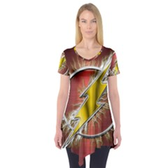 Flash Flashy Logo Short Sleeve Tunic