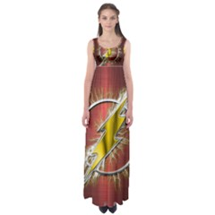 Flash Flashy Logo Empire Waist Maxi Dress