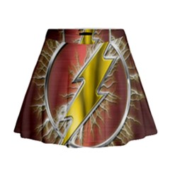 Flash Flashy Logo Mini Flare Skirt