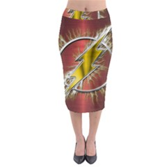 Flash Flashy Logo Midi Pencil Skirt