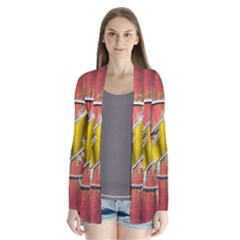 Flash Flashy Logo Drape Collar Cardigan