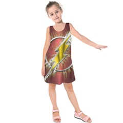 Flash Flashy Logo Kids  Sleeveless Dress