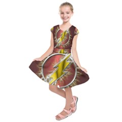 Flash Flashy Logo Kids  Short Sleeve Dress