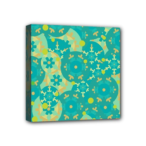 Cyan design Mini Canvas 4  x 4