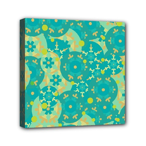 Cyan design Mini Canvas 6  x 6