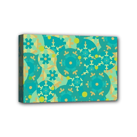 Cyan design Mini Canvas 6  x 4