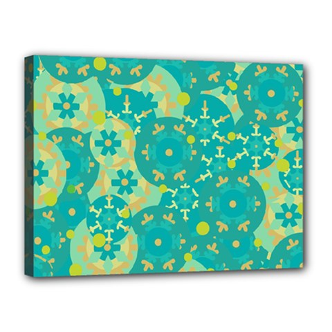 Cyan design Canvas 16  x 12
