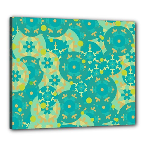 Cyan design Canvas 24  x 20