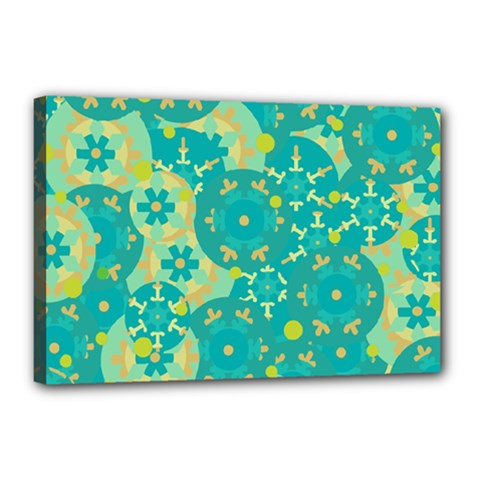 Cyan design Canvas 18  x 12