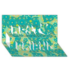 Cyan design Best Friends 3D Greeting Card (8x4)