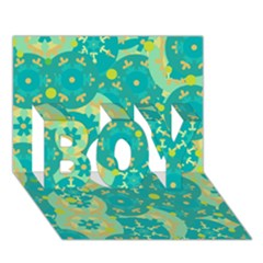 Cyan design BOY 3D Greeting Card (7x5)