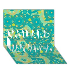Cyan design YOU ARE INVITED 3D Greeting Card (7x5)