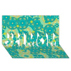 Cyan design #1 MOM 3D Greeting Cards (8x4)