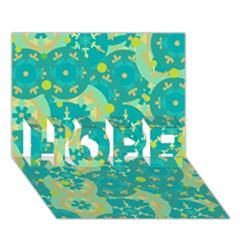 Cyan design HOPE 3D Greeting Card (7x5)