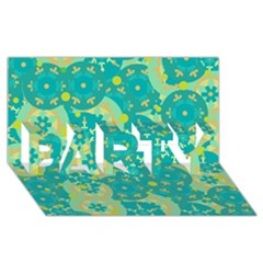 Cyan design PARTY 3D Greeting Card (8x4)