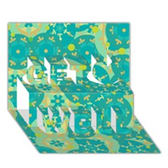 Cyan design Get Well 3D Greeting Card (7x5)