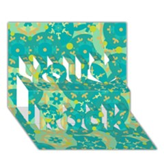 Cyan design You Rock 3D Greeting Card (7x5)