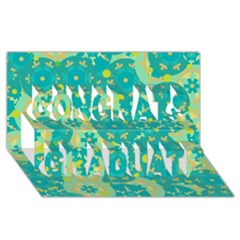 Cyan design Congrats Graduate 3D Greeting Card (8x4)