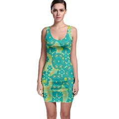 Cyan design Sleeveless Bodycon Dress