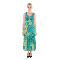 Cyan design Sleeveless Maxi Dress