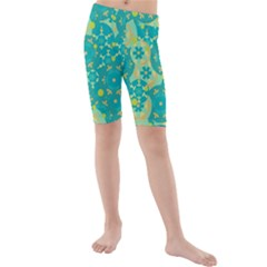 Cyan design Kids  Mid Length Swim Shorts