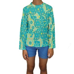 Cyan design Kids  Long Sleeve Swimwear