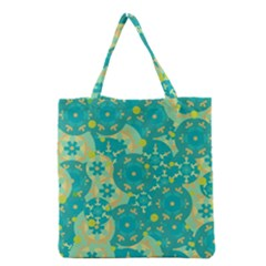 Cyan design Grocery Tote Bag