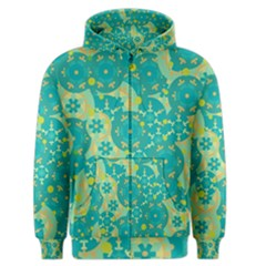 Cyan design Men s Zipper Hoodie