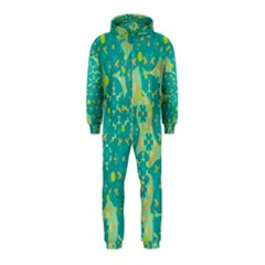 Cyan design Hooded Jumpsuit (Kids)