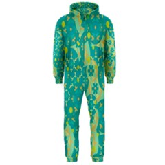 Cyan design Hooded Jumpsuit (Men)