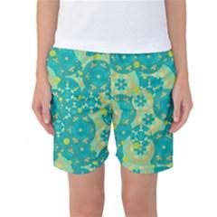 Cyan design Women s Basketball Shorts
