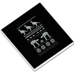 Holiday Party Attire Ugly Christmas Black Background Small Memo Pads