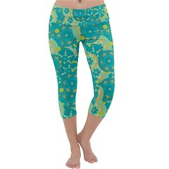 Cyan design Capri Yoga Leggings
