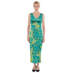 Cyan design Fitted Maxi Dress