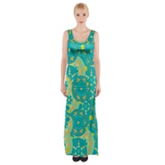 Cyan design Maxi Thigh Split Dress