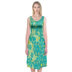 Cyan design Midi Sleeveless Dress