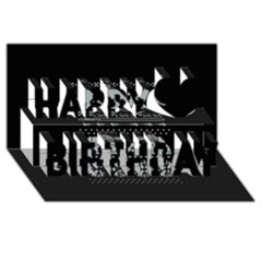 Holiday Party Attire Ugly Christmas Black Background Happy Birthday 3d Greeting Card (8x4)