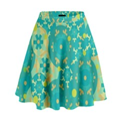 Cyan design High Waist Skirt