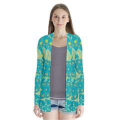 Cyan design Drape Collar Cardigan