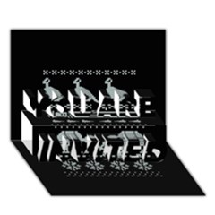Holiday Party Attire Ugly Christmas Black Background You Are Invited 3d Greeting Card (7x5)