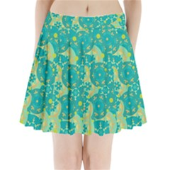 Cyan design Pleated Mini Skirt