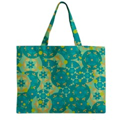 Cyan design Medium Zipper Tote Bag