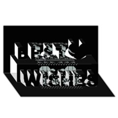Holiday Party Attire Ugly Christmas Black Background Best Wish 3D Greeting Card (8x4)