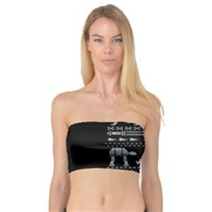Holiday Party Attire Ugly Christmas Black Background Bandeau Top