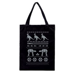 Holiday Party Attire Ugly Christmas Black Background Classic Tote Bag